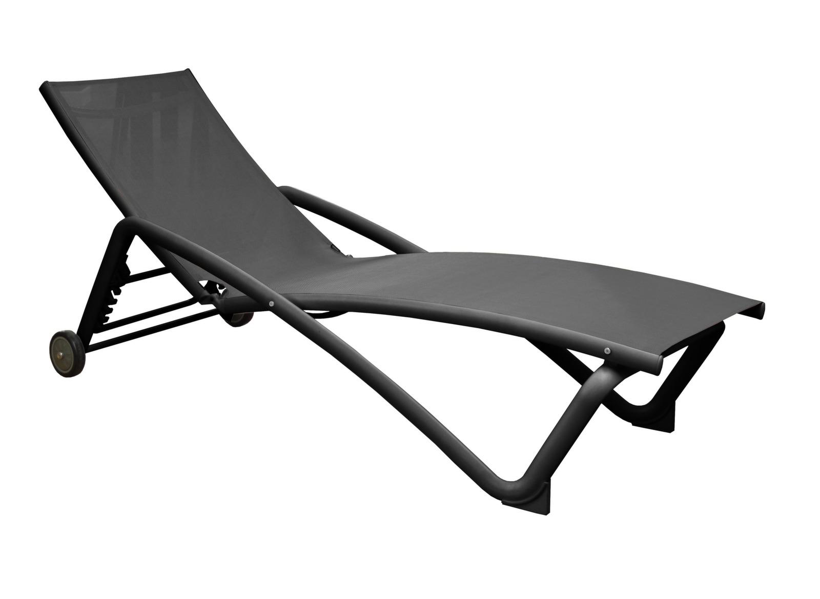 Bain de soleil zo gris en alu mobilier de jardin for Mobilier de jardin gris