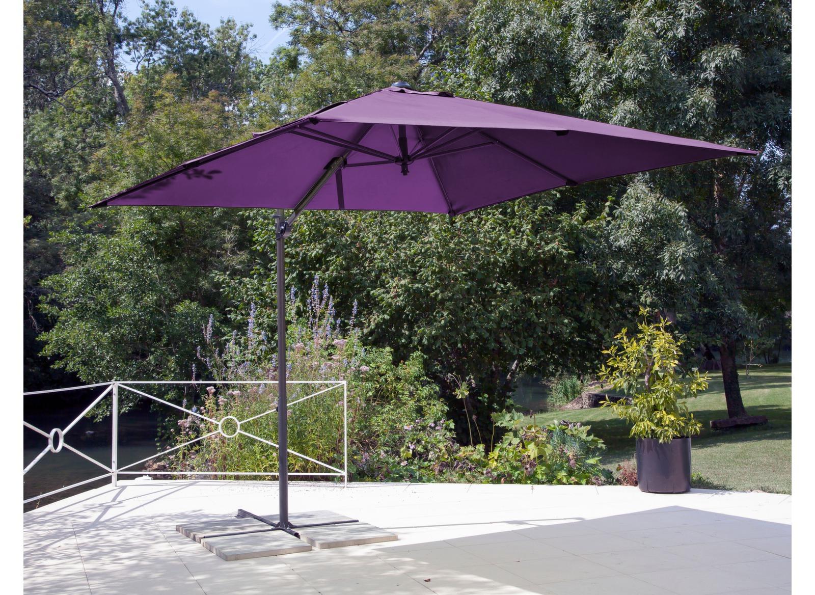 Parasol déporté 2,5 x 2,5 m