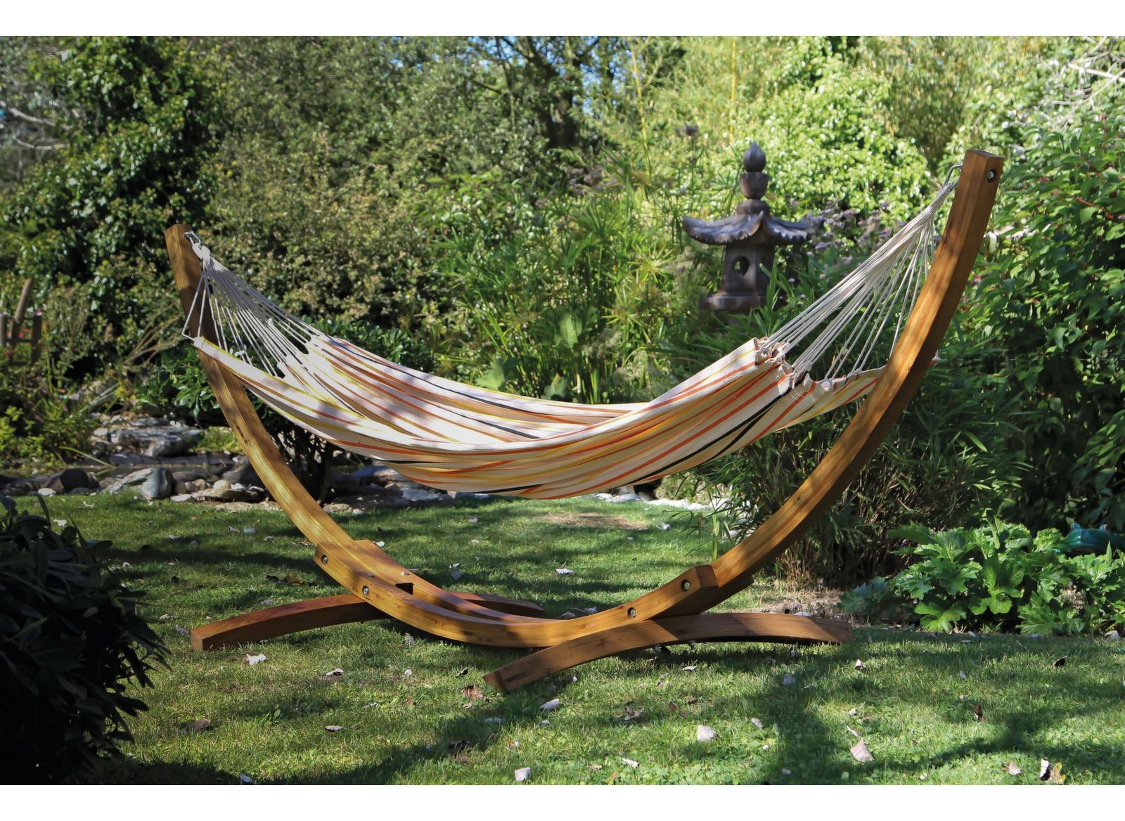 toile de hamac 100 coton 220cm x 140cm beige proloisirs. Black Bedroom Furniture Sets. Home Design Ideas