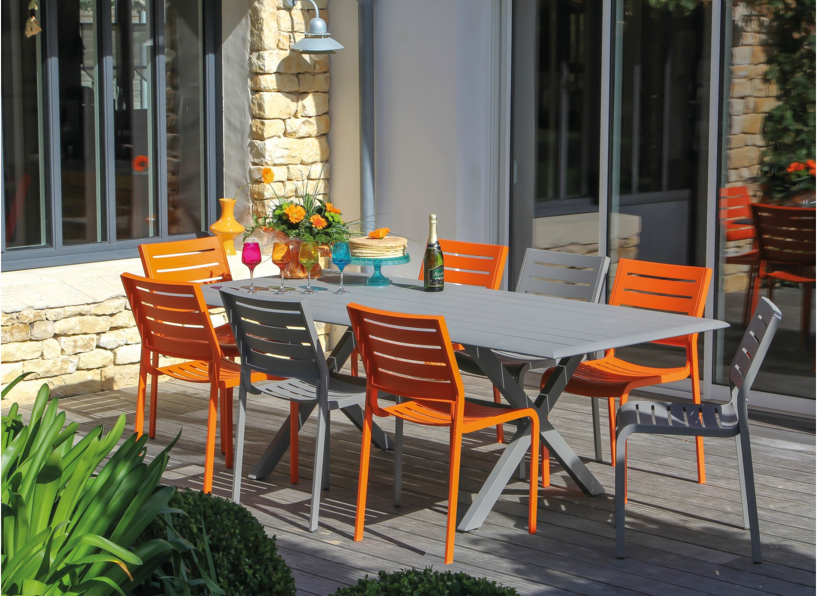 Chaise de jardin belhara promotions meubles de jardin for Salon de jardin couleur