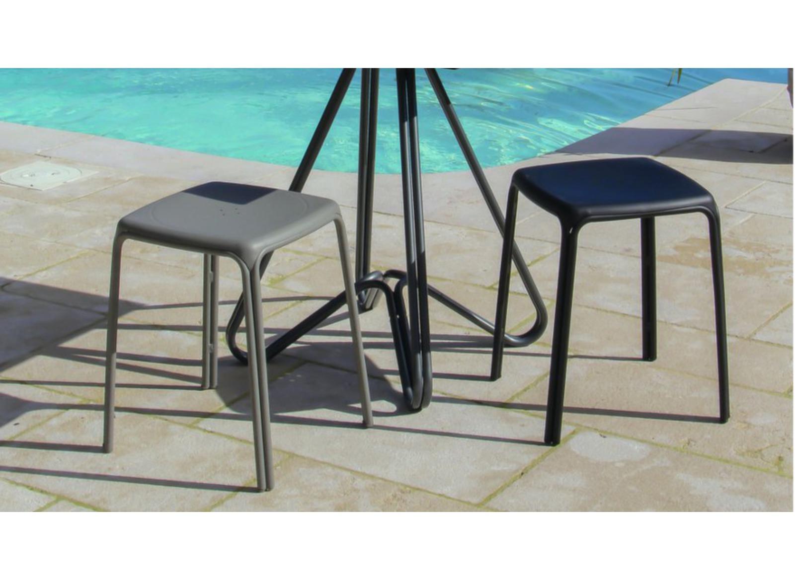 tabouret azuro light grey tabourets pour le jardin mobilier de jardin proloisirs. Black Bedroom Furniture Sets. Home Design Ideas