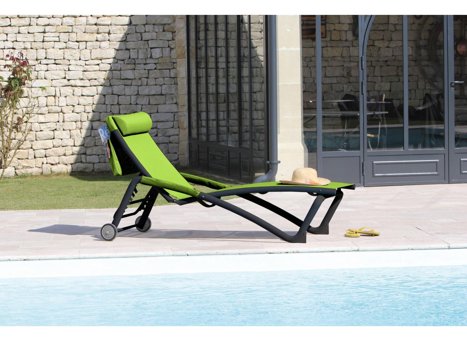 Bain de soleil zo en aluminium r glable proloisirs - Bain de soleil pour piscine ...