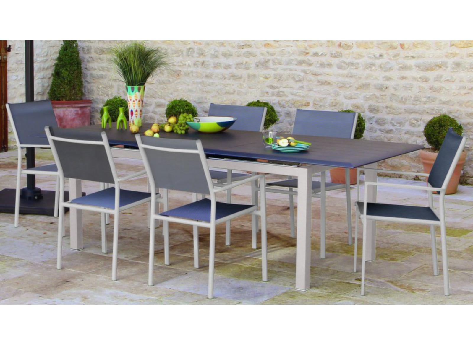 grande table de jardin look bois louisiane proloisirs. Black Bedroom Furniture Sets. Home Design Ideas