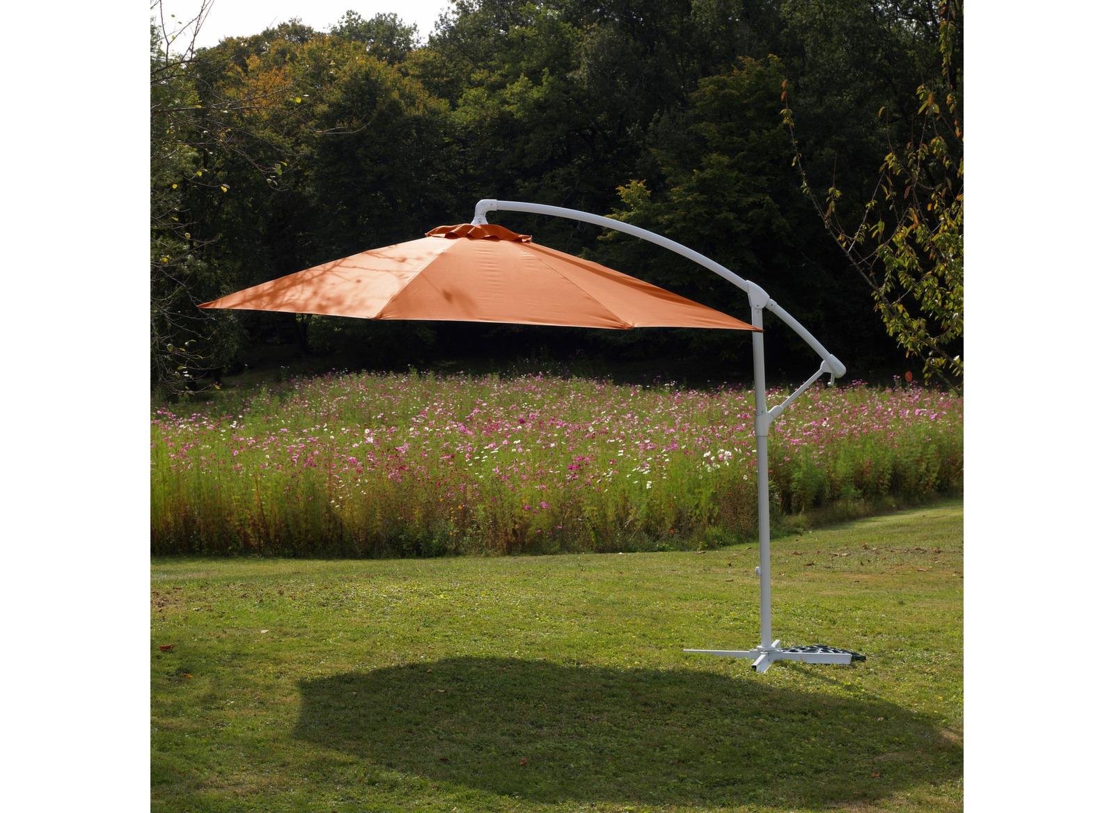 parasol fibre de verre 3m d port turquoise parasol d port ou droit mobilier de jardin. Black Bedroom Furniture Sets. Home Design Ideas