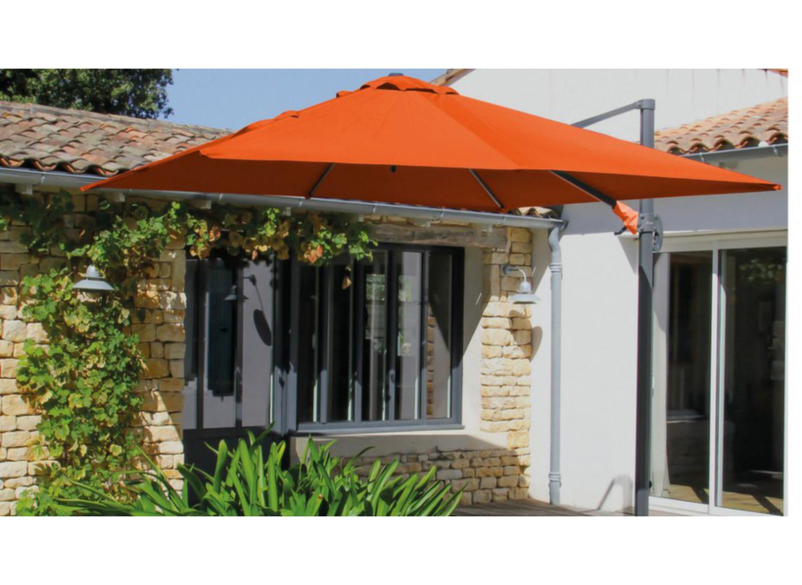 parasol d port carr aluminium 3x3m proloisirs. Black Bedroom Furniture Sets. Home Design Ideas