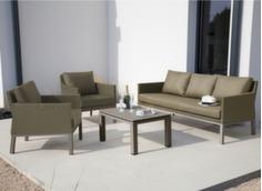 Ensemble détente Oslo (2 fauteuils + canapé 3 pl + table basse)