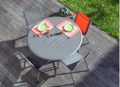 Ensemble table Brasa 160 cm + 6 chaises Linéa