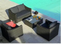 Ensemble détente Portland (2 fauteuils + canapé 2 pl + table basse)