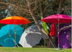 Parasol Ø 270 cm (coloris mât + toile assortis)