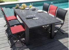 Table Flo 180/240 cm, plateau HPL