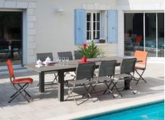 Ensemble table Aurore 214/311 cm + 6 chaises Elégance (1 offerte)