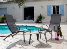 Ensemble détente Elégance (2 fauteuils + table basse Azur Triangle)