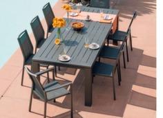 Table Latino 240 cm + 8 sièges Ida