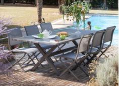 Table Crossway 240 cm + 6 chaises Elégance