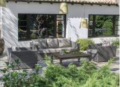 2 fauteuils de jardin avec canapé 3 places