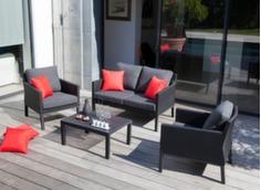 Ensemble détente Oslo (2 fauteuils + canapé 2 pl + table basse)