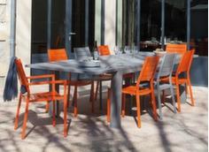 Ensemble table Aurore 175/234 cm + 6 chaises et 2 fauteuils Latin
