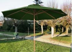 Parasol droit bois manivelle  Ø 350 cm