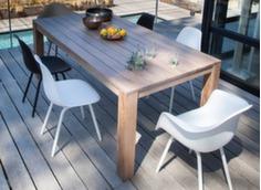 Table Kéa 200 x 100 cm + 8 chaises Moss