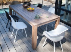 Ensemble table Kéa 200 x 100 cm + 8 chaises Moss
