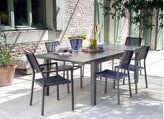 Ensemble table Milano 180/240 cm + 4 chaises et 2 fauteuils