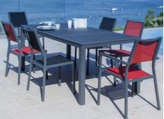 Ensemble Table Romane 188 cm + 6 sièges Florence