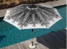 Parasol droit 300/8 Palmier anodisé