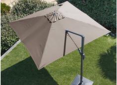 Parasol déporté orientable aluminium 3 x 3 m