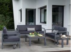 Ensemble Castille (2 fauteuils + canapé + table basse plateau Trespa®)