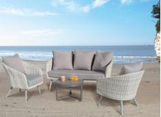 Ensemble Augusta (2 fauteuils + canapé + table basse plateau Trespa®)