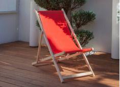 Lot de 2 chiliennes St Malo, toile coloris rouge