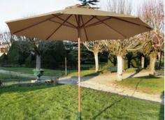 Parasol bois manivelle Ø 300 cm
