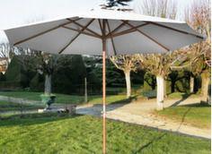 Parasol bois manivelle Ø 350 cm