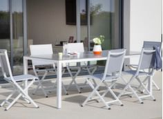 Ensemble table Création 200 x 100 cm + 6 chaises