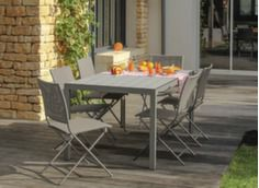 Ensemble table MT 160 cm + 6 chaises pliantes