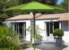 Parasol droit Ø 300 cm, ouverture assistée