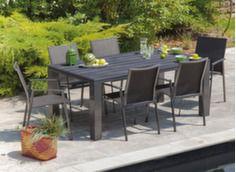 Ensemble table Alizé 180 cm + 6 sièges Palma