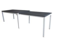 Table extensible sur roues 170/290 cm, aluminium