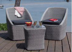 Ensemble détente Florian (2 fauteuils + galettes + 1 table)