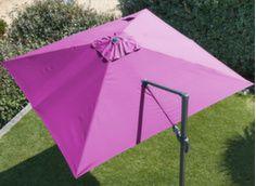 Toile pour parasol déporté 3 x 3 m orientable