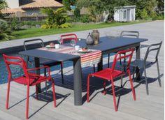 Table Eos 180/240 cm + 6 chaises/fauteuils