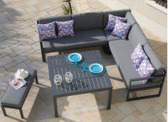 Canapé d'angle Royan avec banc et table
