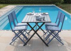 Guéridon Globe 160 cm + 4 chaises Lucca