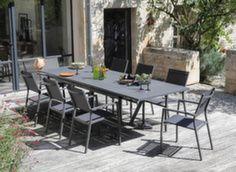 Table Vita 180/230/280 cm + 6 fauteuils Games