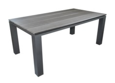 Table Alizé 180 cm, aluminium/polywood, coloris grey/black