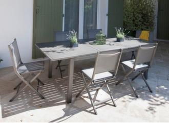 Table Trieste 180/240 cm + 6 chaises Théma