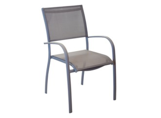 Fauteuil Elegance Taupe/Taupe