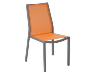 Chaise Ida Taupe/ Orange