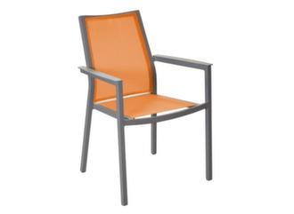 Fauteuil Ida Taupe/Orange