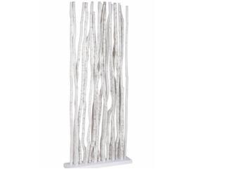 Paravent bois cérusé Blanc